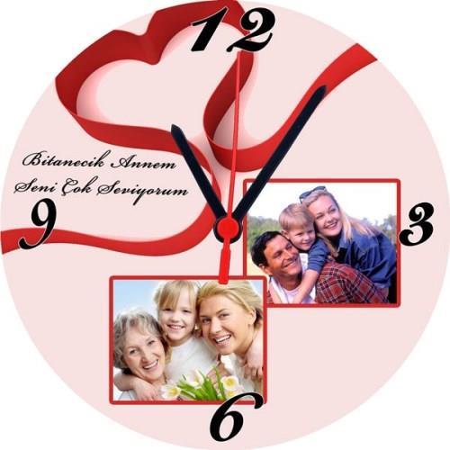 Annelere Özel Anneler Günü Duvar Saati Model 7