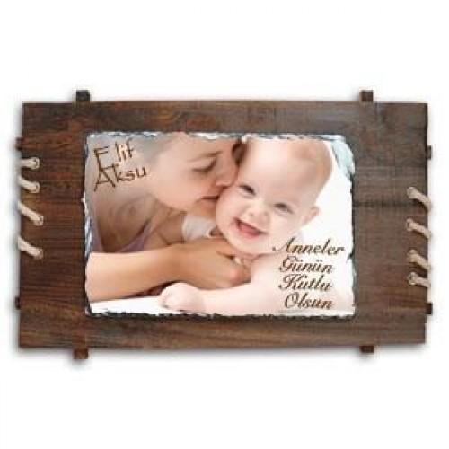 Annelere Özel Doğal Ahşap Çerçeve