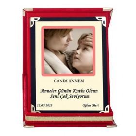 Kişiye Özel Kadife Kutulu Anneler Günü Plaketi
