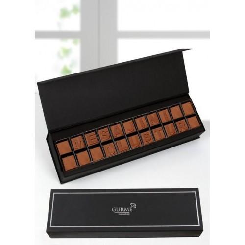 Kişiye Özel Sütlü Harf Çikolata (22 Karakter)