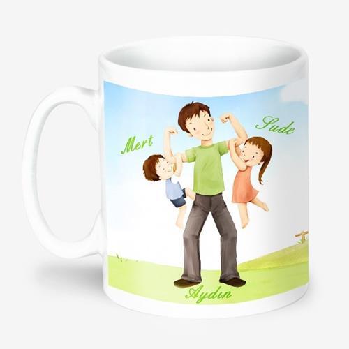 Baba ve Çocukları Kupa Bardak