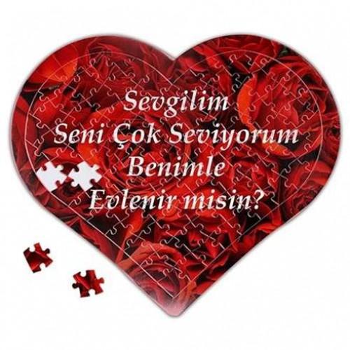 Puzzle Size Özel Kalp Kutuda